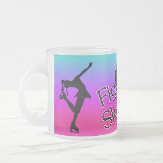 ame patinaje artístico, rosa, taza colorida del co