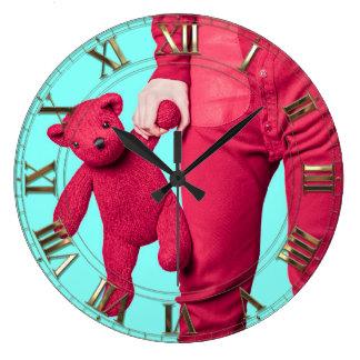 Ame siempre al niño dentro de mí reloj redondo grande