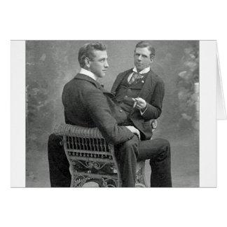 Ame siempre nuestra foto gay de los amantes del tarjeta de felicitación