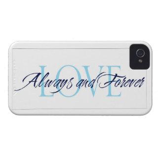 Ame siempre y para siempre el caso del iPhone Carcasa Para iPhone 4