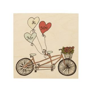 Ame Sr. y a la señora arte de madera de la bici de Cuadro De Madera