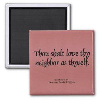 Ame su 5:14 vecino de Galatians Imán Cuadrado