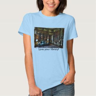 ¡Ame su biblioteca! Camisas