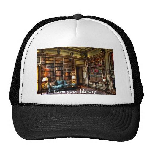 ¡Ame su biblioteca! Gorras De Camionero