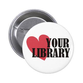 Ame su biblioteca pins