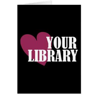 Ame su biblioteca tarjeta de felicitación