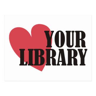 Ame su biblioteca tarjeta postal