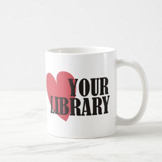 Ame su biblioteca tazas