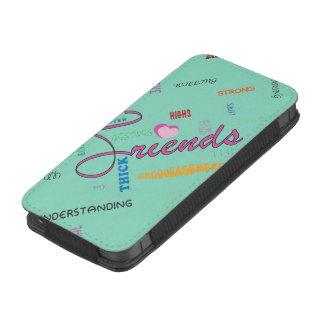 Ame su bolsa del teléfono de los amigos funda acolchada para iPhone
