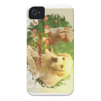 Ame su caja de Blackberry del golden retriever del Case-Mate iPhone 4 Cobertura