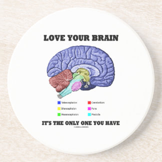 Ame su cerebro que es el único usted tiene (el posavasos diseño