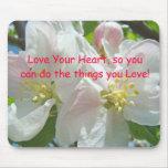 ¡Ame su corazón así que usted puede hacer las cosa Alfombrilla De Ratones