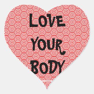 Ame su cuerpo colcomanias corazon