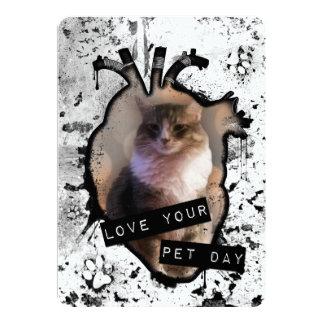 """ame su día del mascota invitación 5"""" x 7"""""""