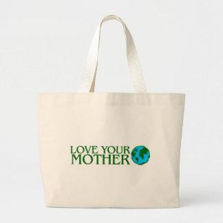Ame su madre tierra bolsa tela grande