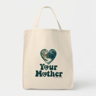 Ame su madre tierra bolsa tela para la compra