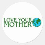Ame su madre tierra etiqueta