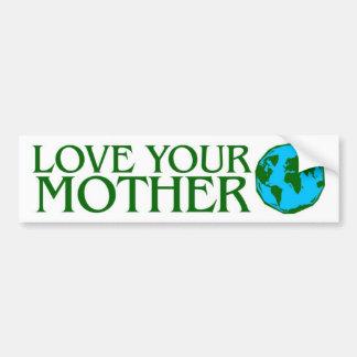 Ame su madre tierra pegatina de parachoque