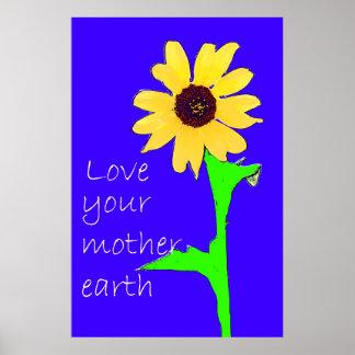 ame su madre tierra póster