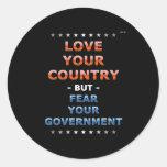 Ame su país pegatinas redondas
