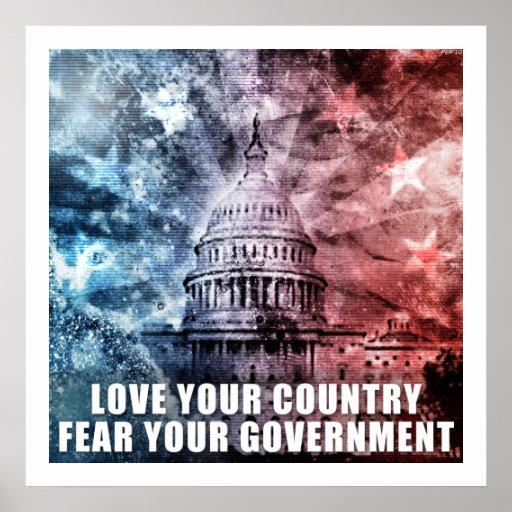 Ame su país póster