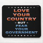 Ame su país tapetes de raton