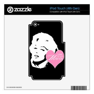 Ame su pelo al lado del salón de pelo de Mandy el Calcomanías Para iPod Touch 4G