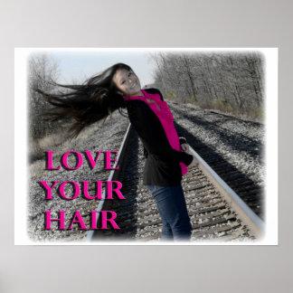 ¡Ame su pelo Posters