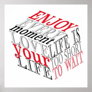 Ame su poster de la cita de la vida póster