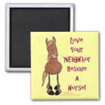 Ame su 'rescate del caballo de NEIGH'bor Imanes Para Frigoríficos