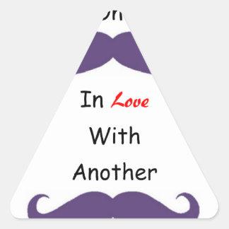 Ame su 'Staches Pegatina Triangular