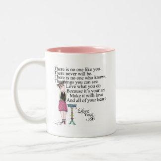 Ame su taza de café del arte