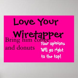 Ame su wiretapper póster