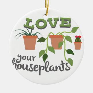 Ame sus Houseplants Adorno Navideño Redondo De Cerámica