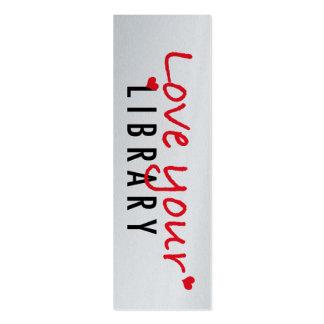 Ame sus mini señales de la biblioteca (el paquete tarjetas de visita mini