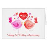 Ame tarjeta del arte del aniversario del rosa rojo