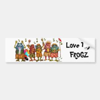 Ame Thy Frogz - pegatina para el parachoques Etiqueta De Parachoque