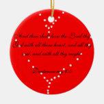 ame thy ornamento del corazón del señor ornamentos de navidad