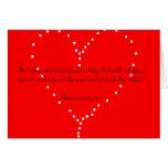 Ame thy tarjeta del corazón del señor