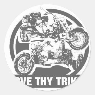 ame thy trike - motocicleta pegatinas redondas