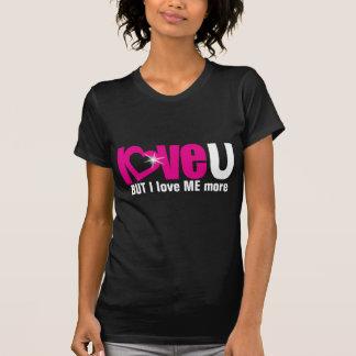 """""""ame U"""" PERO me amo un top más rosado del negro Camisetas"""