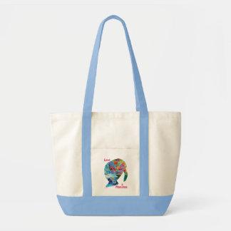 Ame un bolso de la lona del tote del Manatee Bolsas