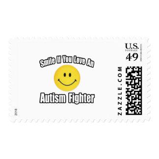 Ame un combatiente del autismo sello
