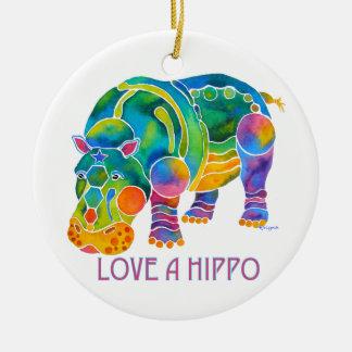 Ame un HIPOPÓTAMO Ornamento De Navidad