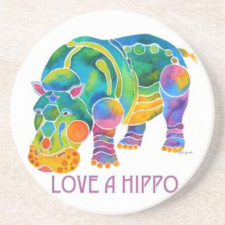 Ame un HIPOPÓTAMO Posavasos Personalizados