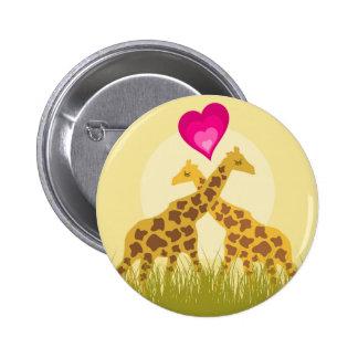 Ame una jirafa pin redondo de 2 pulgadas