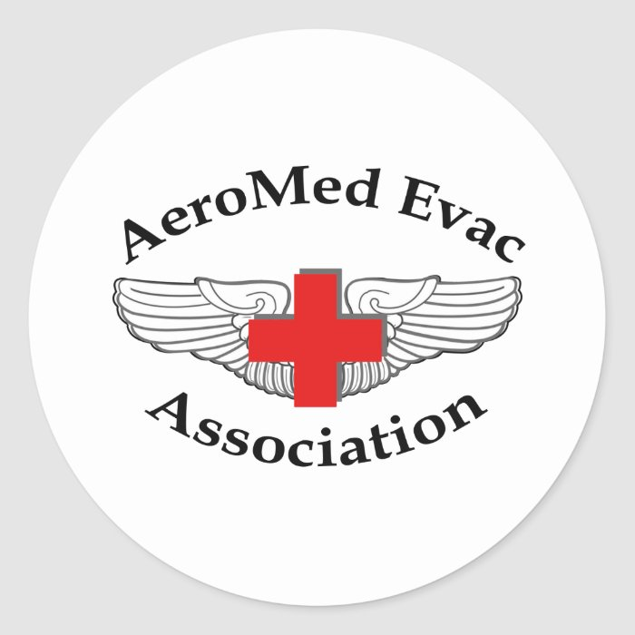 AMEA Logo drop shadow version Classic Round Sticker