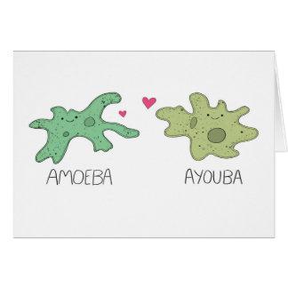 Ameba y usted tarjeta linda del el día de San