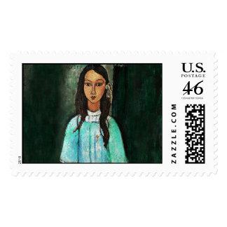 Amedeo Modigliani Alice Italian Expressionism Art Stamp