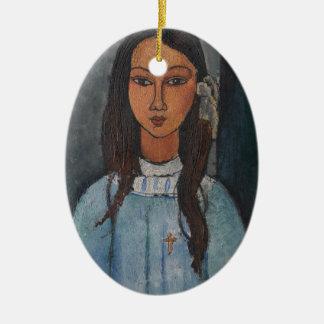 Amedeo Modigliani - Alice Christmas Tree Ornament